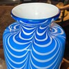 Blown Glass Vase with Drapery Design