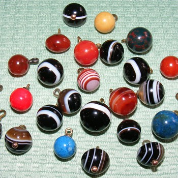 Agate Ball Waistcoat Buttons - Sewing
