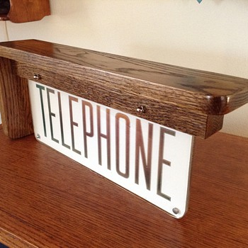 TELEPHONE SCONCE sign - Signs