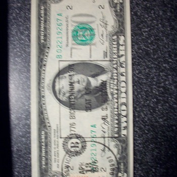1976 $2 Bill - US Paper Money