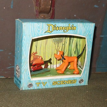 Marx Disneykin TV Scenes Pluto 1961 - Toys