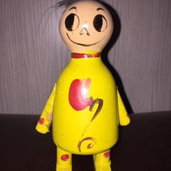 Identify Wooden Funny Antique Toy? - Dolls