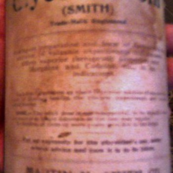 Another old medicine bottle to collect info on