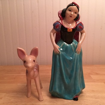"""Brayton Laguna Pottery """"Snow White & Fawn"""" - 1938 - Pottery"""