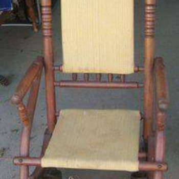 My two Platform Rockers from the 1800s.