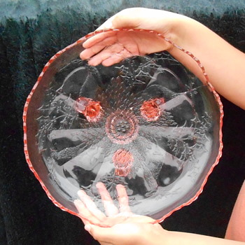 Pink Depression Glass Platter?