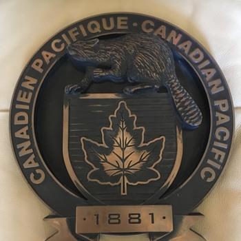 Canadian Pacific Logo Plaque - Railroadiana
