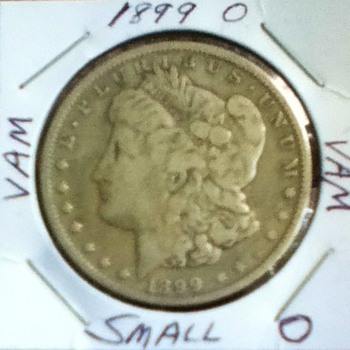 Raw 1899 Morgan Silver Dollar