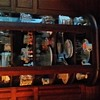 ANTIQUE MAHOGANY CURVED GLASS CHINA CABINET
