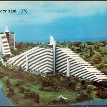 "1976 - Montreal ""Olympic Village"" Postcard - Postcards"