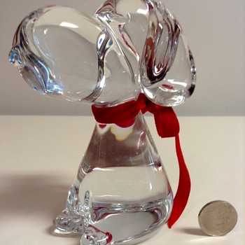 Marcolin Crystal Snoopy Figurine  - Art Glass