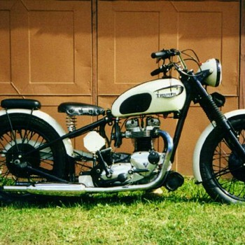 1966 Triumph T-120 Bonneville custom '40s style - Motorcycles