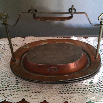 Old copperplated container - Victorian Era