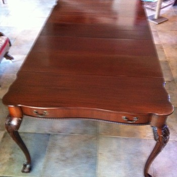 Two... Mahogany Chippendale tables make card tables or dining room tables - Furniture