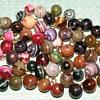 "Glass Waistcoat, Charmstring, & Swirlback Ball Buttons - 7/16"""