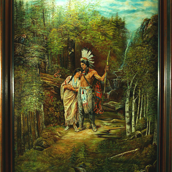 hiawatha and minnihaha's wedding march - Fine Art