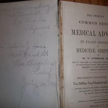 The People's Common Sense Medical Adviser 1913? - Books