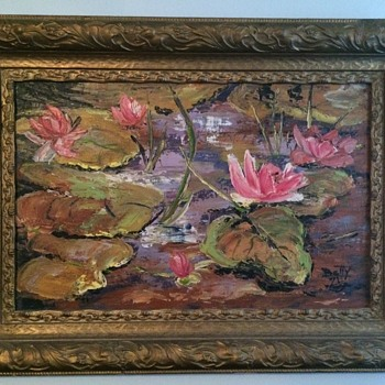 Wonderful Water Lilly Painting  - Fine Art
