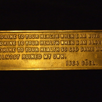 Who is this 1864 BOEL on this Brass plate? - Signs