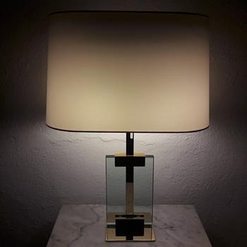 Italian glass brass lamps-70s - Lamps