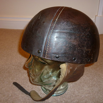 British WW11 Leather Dispatch Riders helmet