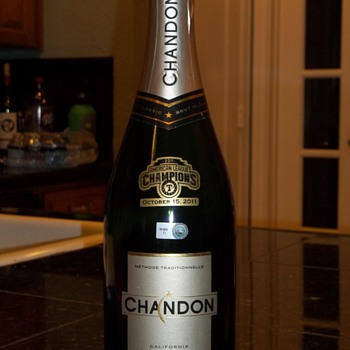 Texas Rangers American League Champions Champagne Bottle
