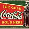 Ice Cold COKE Coca Cola Sold Here Retro Metal Tin Sign