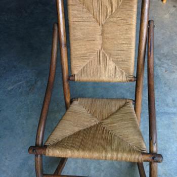 Vintage Cane/Straw Rocking Chair