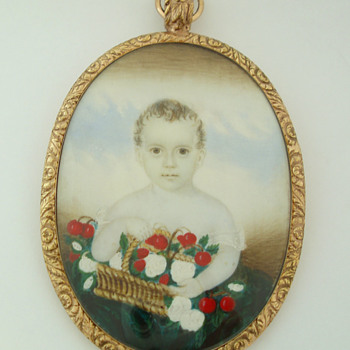 Portrait of a child holding a basket  - Fine Jewelry