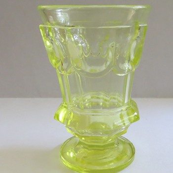 Vaseline Glass Toothpick Holder or small Vase? - Glassware