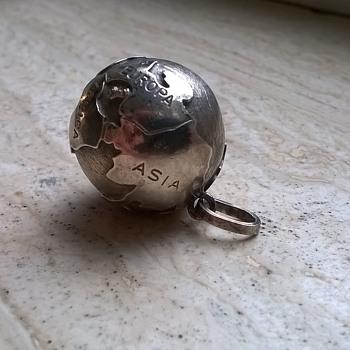 .835 Silver World Globe Pendant, Italy - Fine Jewelry