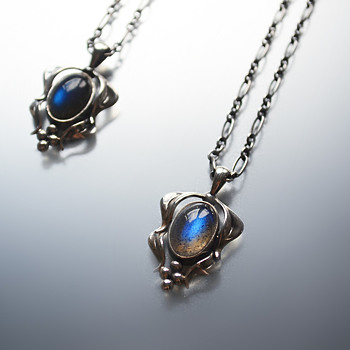 Georg Jensen Pendant of the Year 2015 - Labradorite and silver - Fine Jewelry