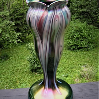 Rindskopf Art Nouveau Vase - Art Glass