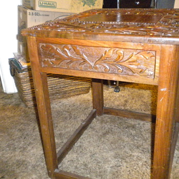 Hnad carved end tables