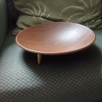 Ianthe Sputnic fruit bowl with the original sticker, teak effect but its aluminum and from the early 70s - Kitchen