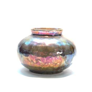 miniature lustre pottery vase by leon elchinger circa 1930 - Art Nouveau