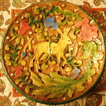 Italian Ceramic Plate from before 1960's ?  Made by?   - Pottery
