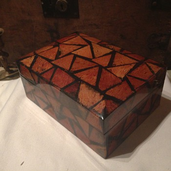 Old Jewellery box ( made from some kind of fur ) - Fine Jewelry