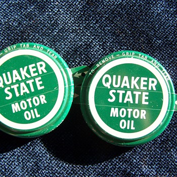 Quaker State Lids - Petroliana