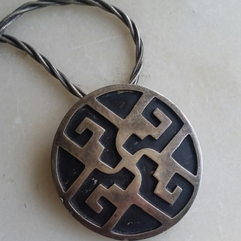 Vintage Mexico sterling pin/pendant - Fine Jewelry