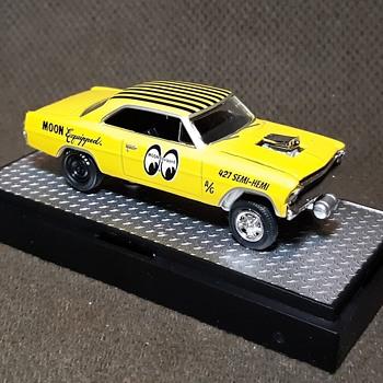 M2 Machines 1967 Chevrolet Nova Gasser Moon Equipped Circa Current 1/64 - Model Cars