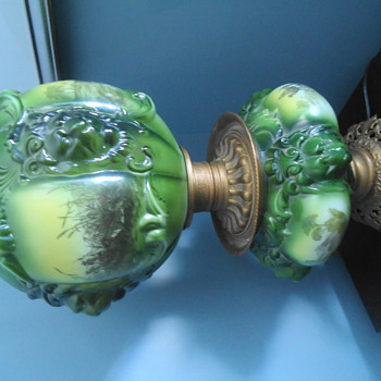 Antique oil lamp - Lamps