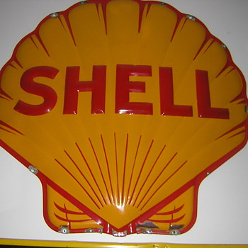 Shell Porcelain Sign - Petroliana