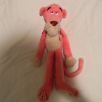 The pink Panther Strikes Again plush toy or movie promo item.