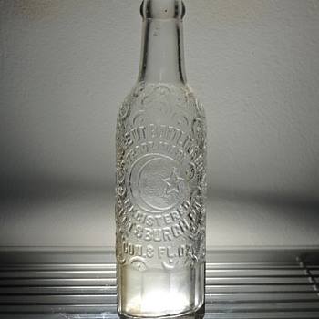 1943 Crescent Bottling Soda Bottle Pittsburgh Pennsylvania Owens-Illinois Embossed Vintage Collectible Clear Cola - Bottles