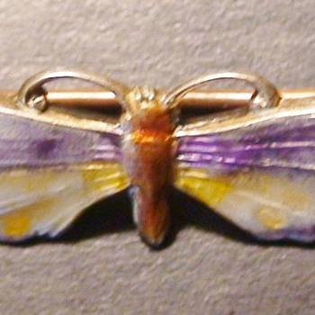 Antique Sterling Moth/Butterfly Pin Charles Thomae - Fine Jewelry