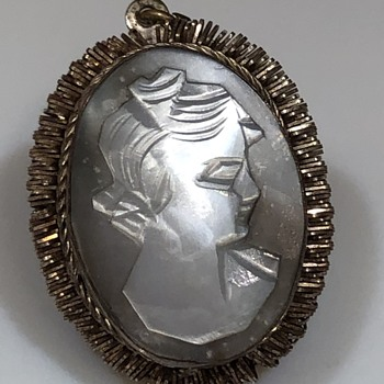 Cameo pendant BA800 sterling? - Costume Jewelry
