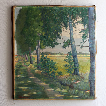 How old is this landscape painting?  - Fine Art