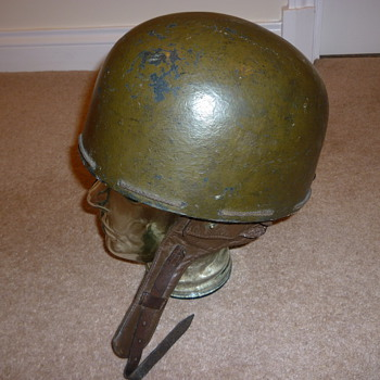 British WW11 pressed fibre Dispatch Riders helmet