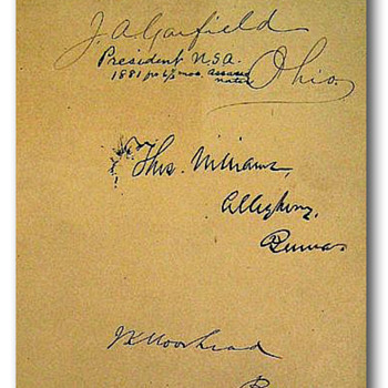 Original signature of James A. Garfield, the 20th President of the United States - Paper